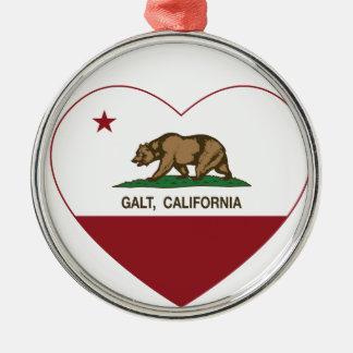 coração do galt da bandeira de Califórnia Enfeite De Natal