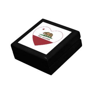 coração do galt da bandeira de Califórnia Caixa De Persentes