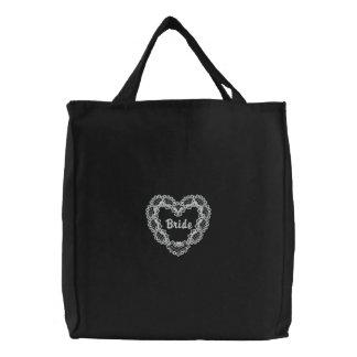 Coração do marfim - noiva bolsas para compras