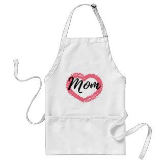 Coração do pastel da mamã avental