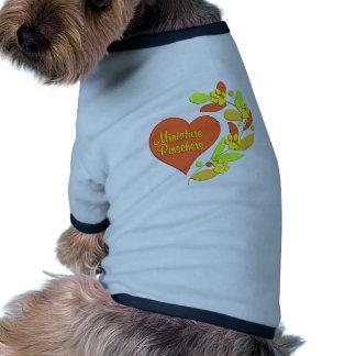 Coração do Pinscher diminuto Camisa Para Caes