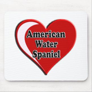 Coração do Spaniel de água americana para amantes