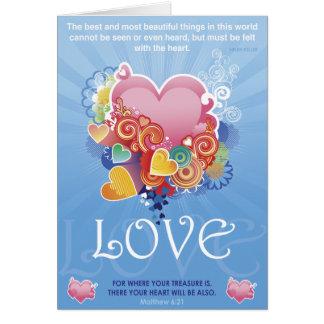 Coração do tesouro cartão comemorativo