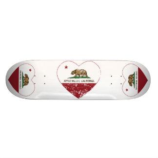 coração do vale da maçã da bandeira de Califórnia  Shape De Skate 18,1cm