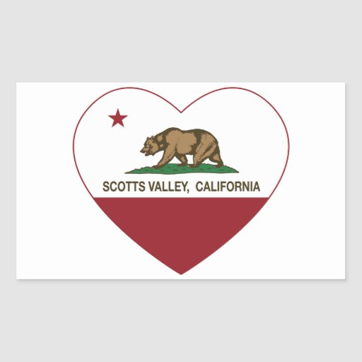 coração do vale dos scotts da bandeira de adesivo retangular