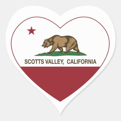 coração do vale dos scotts da bandeira de adesivos em forma de corações