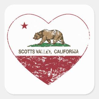 coração do vale dos scotts da bandeira de Califórn Adesivos