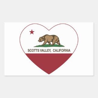 coração do vale dos scotts da bandeira de Califórn Adesivo Retangular