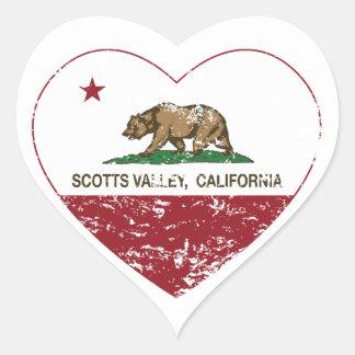 coração do vale dos scotts da bandeira de Califórn Adesivos De Corações