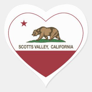 coração do vale dos scotts da bandeira de Califórn Adesivos Em Forma De Corações
