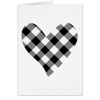 coração do verificador cartão
