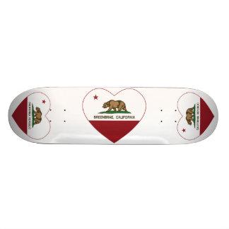 coração dos breenbrae da bandeira de Califórnia Skate