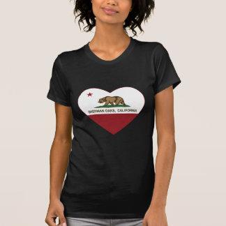 coração dos carvalhos de sherman da bandeira de t-shirt