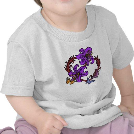 Coração e borboleta camiseta
