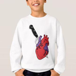 coração e faca camisetas