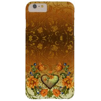 Coração e flores no damasco capas iPhone 6 plus barely there