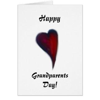 Coração feliz do dia das avós cartão comemorativo