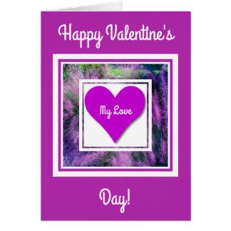 Coração floral do cartão cor-de-rosa do dia dos