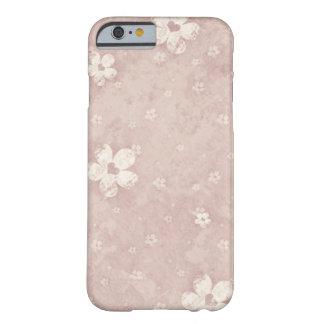 Coração floral do Grunge do vintage elegante Capa Barely There Para iPhone 6
