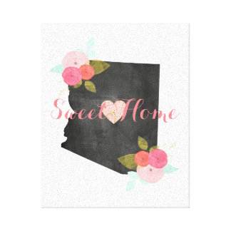 Coração floral & móvel do estado Home doce da
