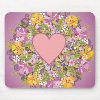 Coração, fundo das flores mousepad
