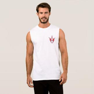 Coração gráfico camiseta sem manga