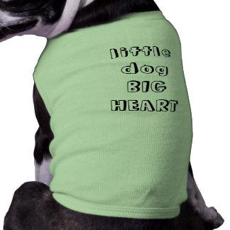 CORAÇÃO GRANDE do cão pequeno Camisa Sem Mangas Para Cachorro