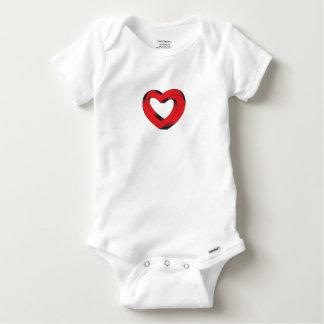 coração impossìvel torcido camisetas