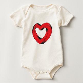 coração impossìvel torcido macacãozinhos para bebê
