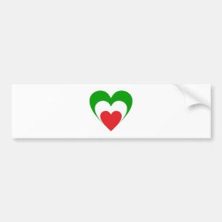 Coração Itália heart Italy Italia Adesivo Para Carro