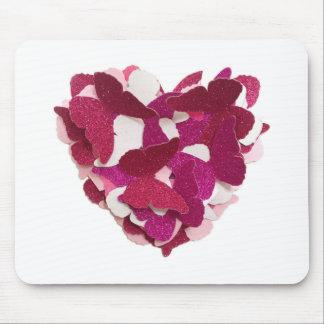 Coração Mousemat da borboleta Mouse Pad