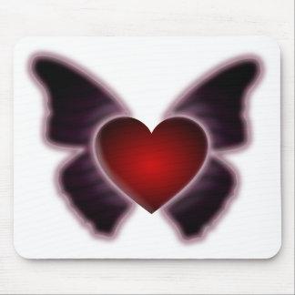 Coração Mousepad da borboleta