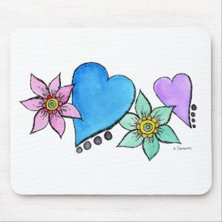 Coração-n-Flores Mouse Pads