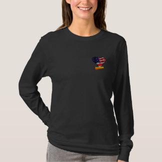 Coração novo da bandeira dos E.U. do cidadão T-shirt