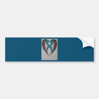 Coração original dos namorados adesivo para carro