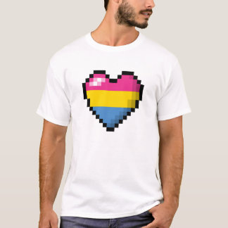 Coração Pansexual do pixel Camiseta