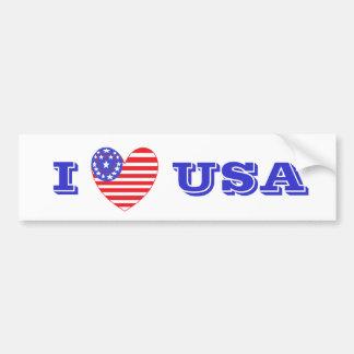 Coração patriótico EUA Adesivo Para Carro