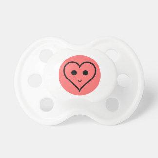 Coração pequeno bonito chupeta para bebê