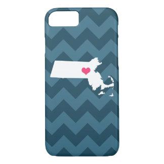 Coração personalizado de Chevron Massachusetts do Capa iPhone 8/7