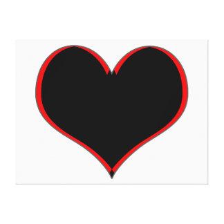 """Coração preto e vermelho 49"""" x 37"""" canvas impressão em tela"""