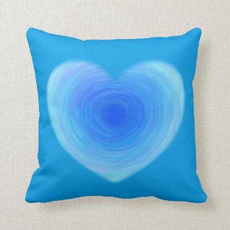 Coração profundo da água azul - amor nas máscaras almofada