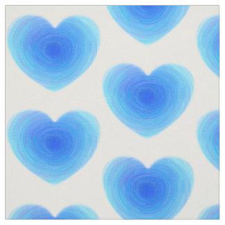Coração profundo da água azul - amor nas máscaras tecido