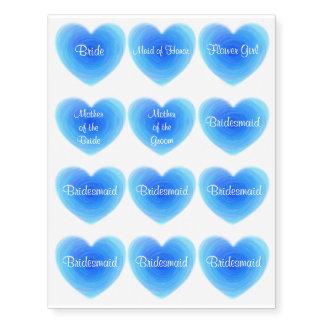 Coração profundo da água azul - amor no partido