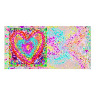 Coração puro - tema romântico 2 cartão com foto