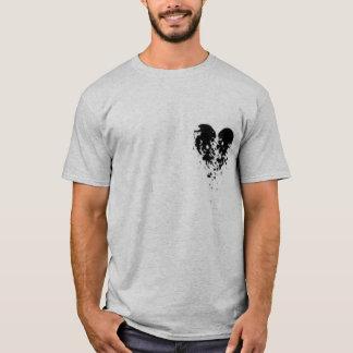 Coração quebrado - asas do anjo t-shirts