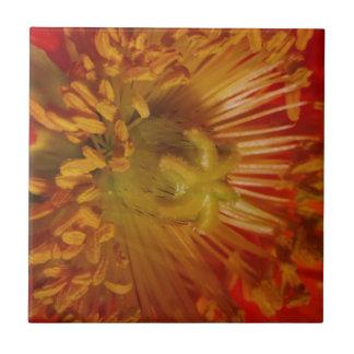 Coração sensual do pólen da flor carregado Cumpri Azulejo