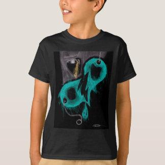 Coração separado rasgado Invert.jpg Camiseta