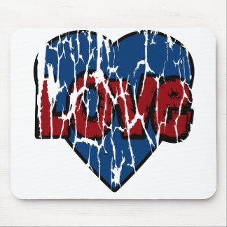 Coração sujo bonito do amor de Mousemat, azul Mouse Pad