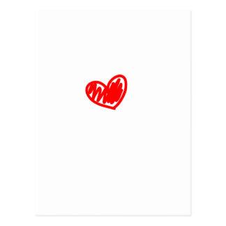 Coração vermelho. Amor. Dia dos namorados Cartão Postal