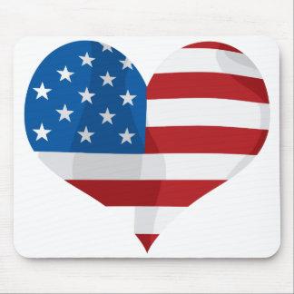 Coração vermelho, branco e azul patriótico